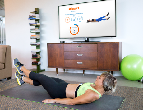 Apple TV and Seven Minute Workout